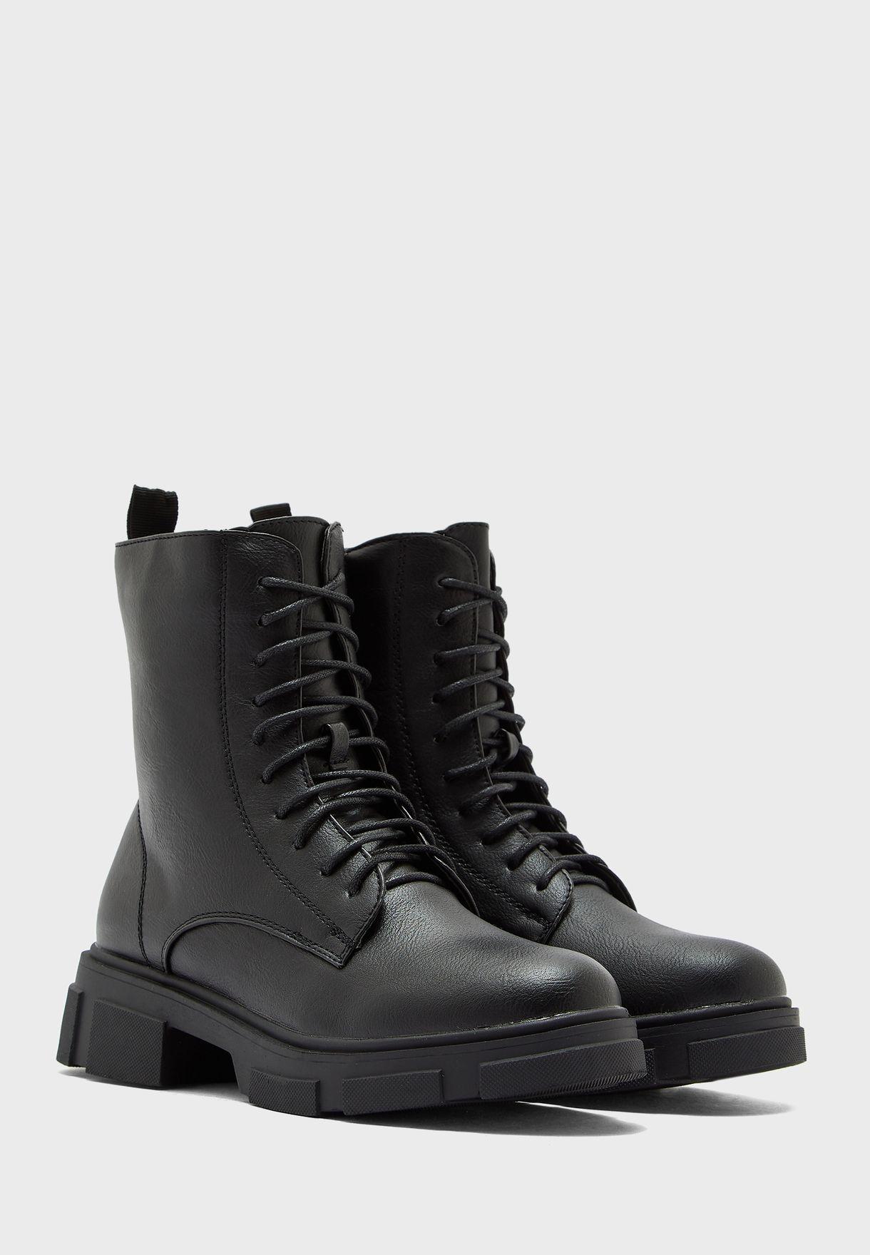 Pu Military Boot