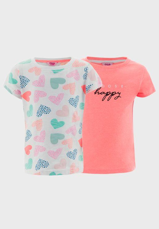 Kids 2 Pack Assorted T-Shirt