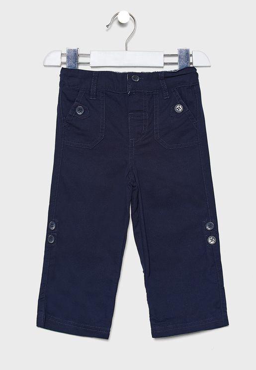 Kids Twill Turn-Up Trouser