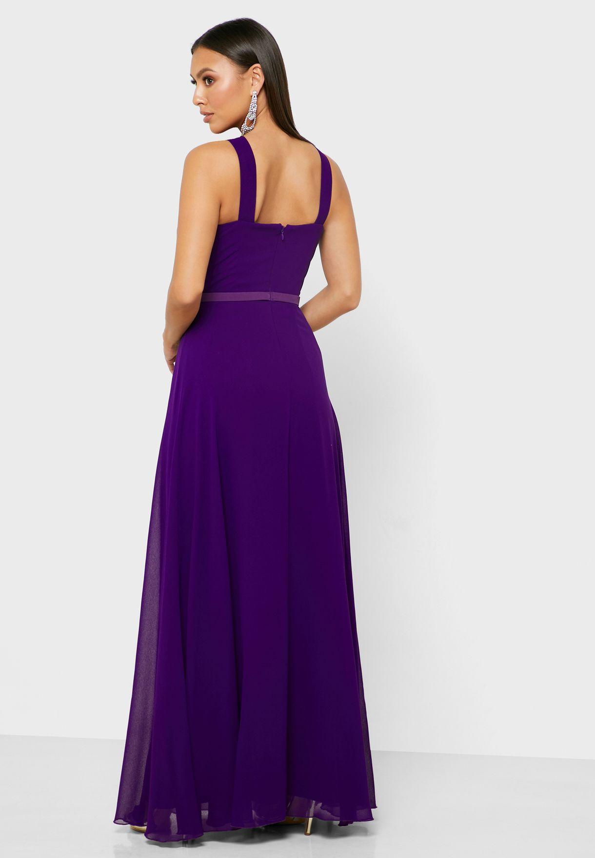 Front Keyhole Crossback Dress