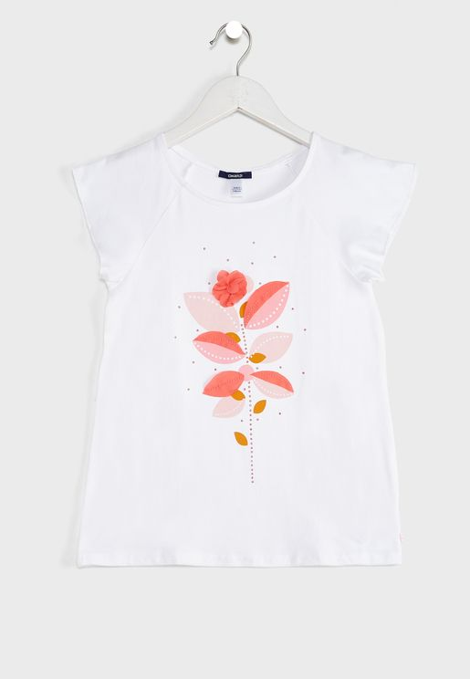 Youth Flower Print Top