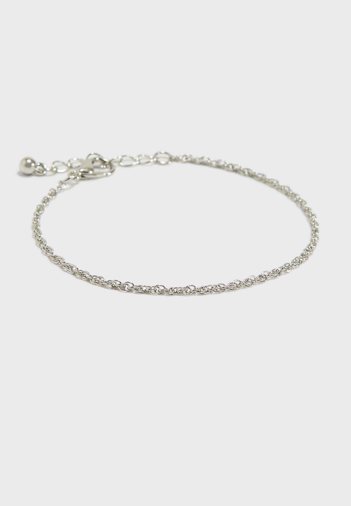 026f6859ae09e Shop Ella silver Chain Bracelet SJ-4-803091 for Women in UAE ...