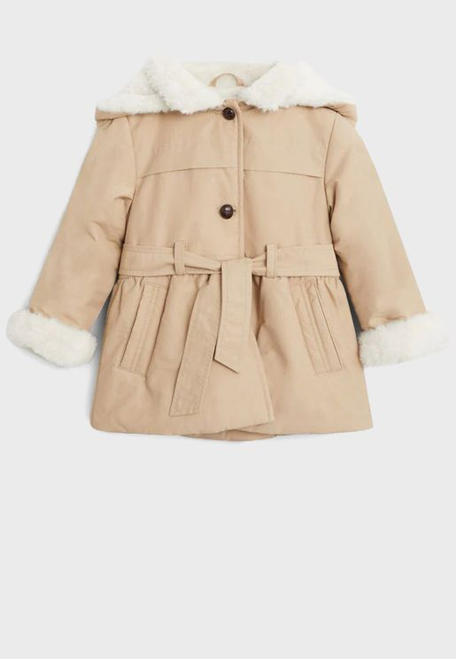 Infant Knot Detail Body Warmer Jacket
