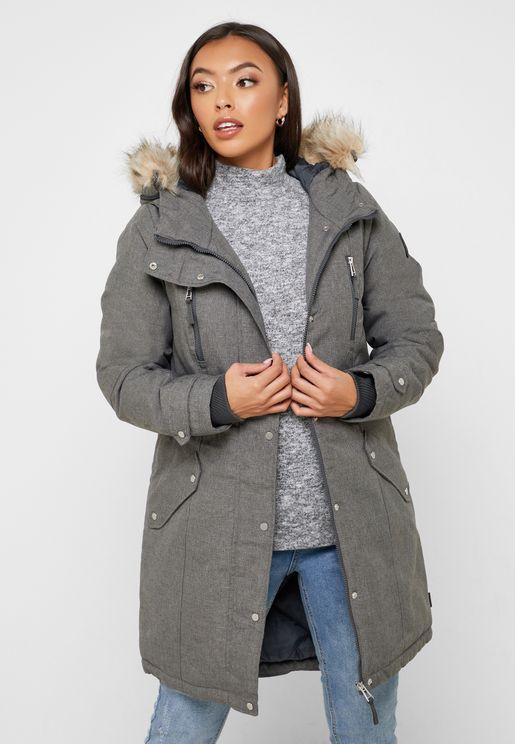 Fur Hoodie Parka Jacket