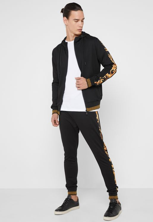 Baroque Side Print Tracksuit