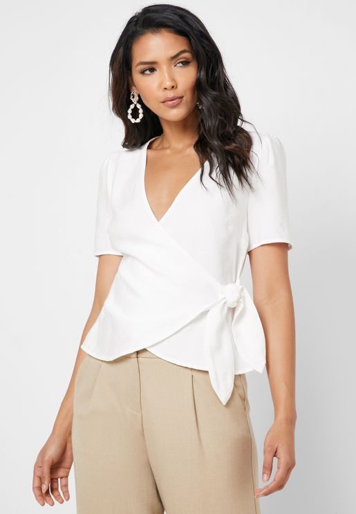 Side Tie Wrap Top