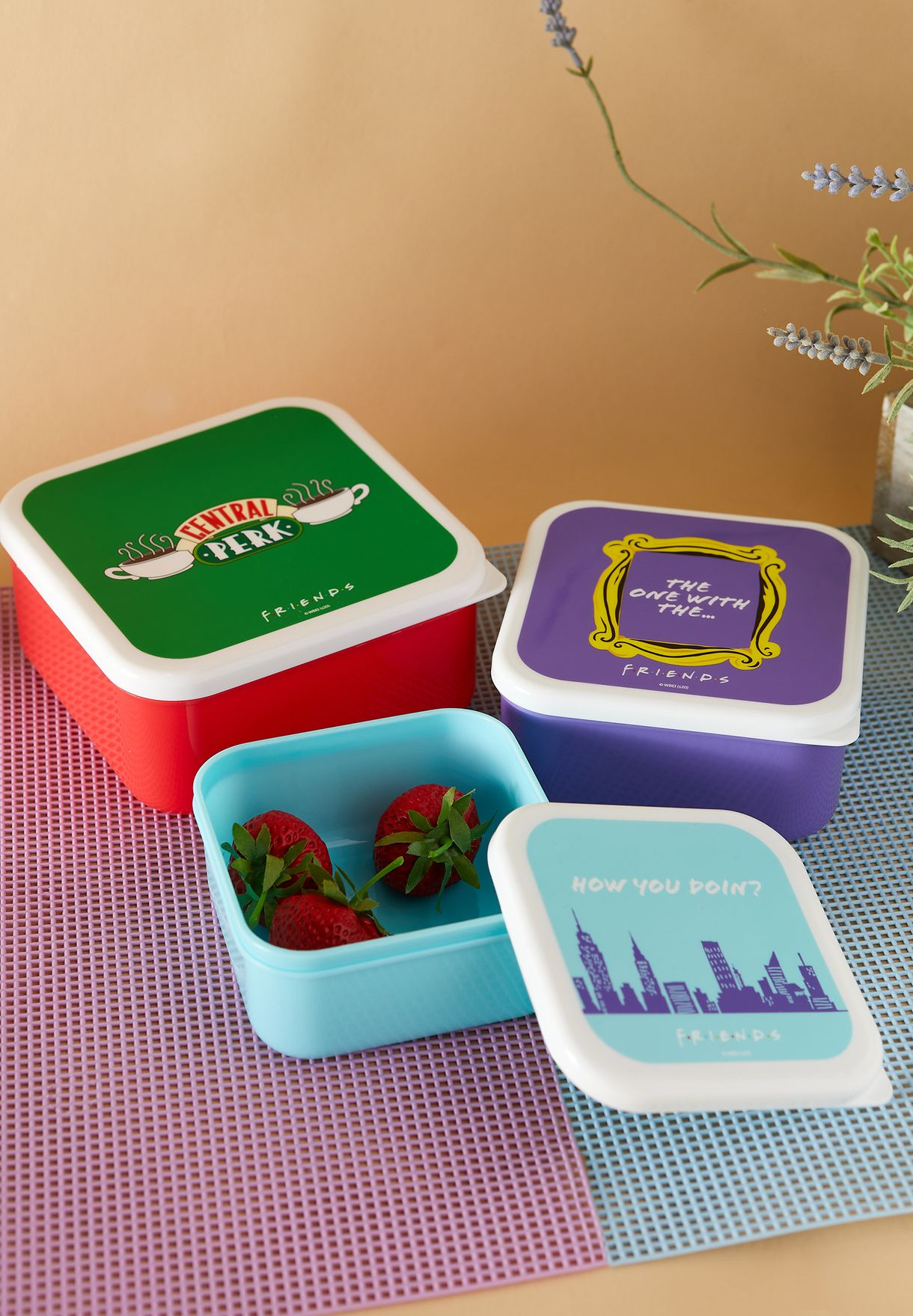 Friends Set of 3 Central Perk Lunch Box