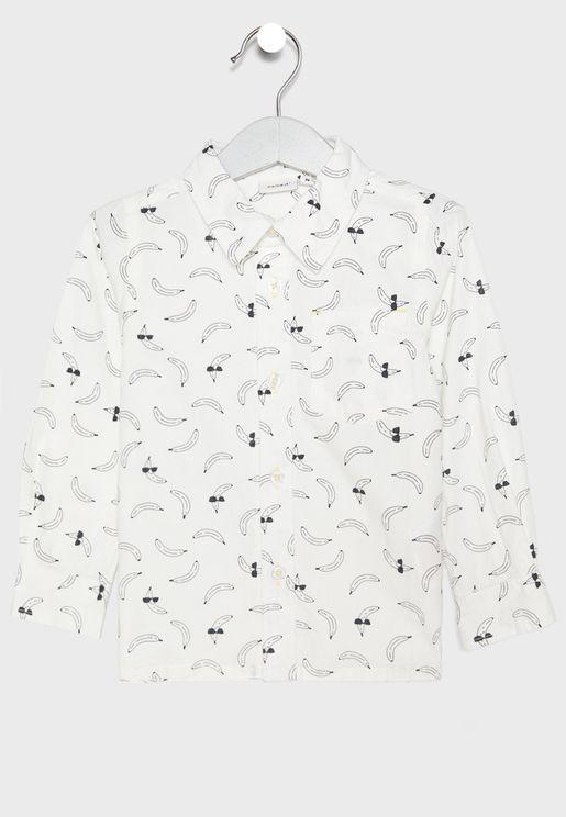 Kids Printed Organic Cotton Shirt