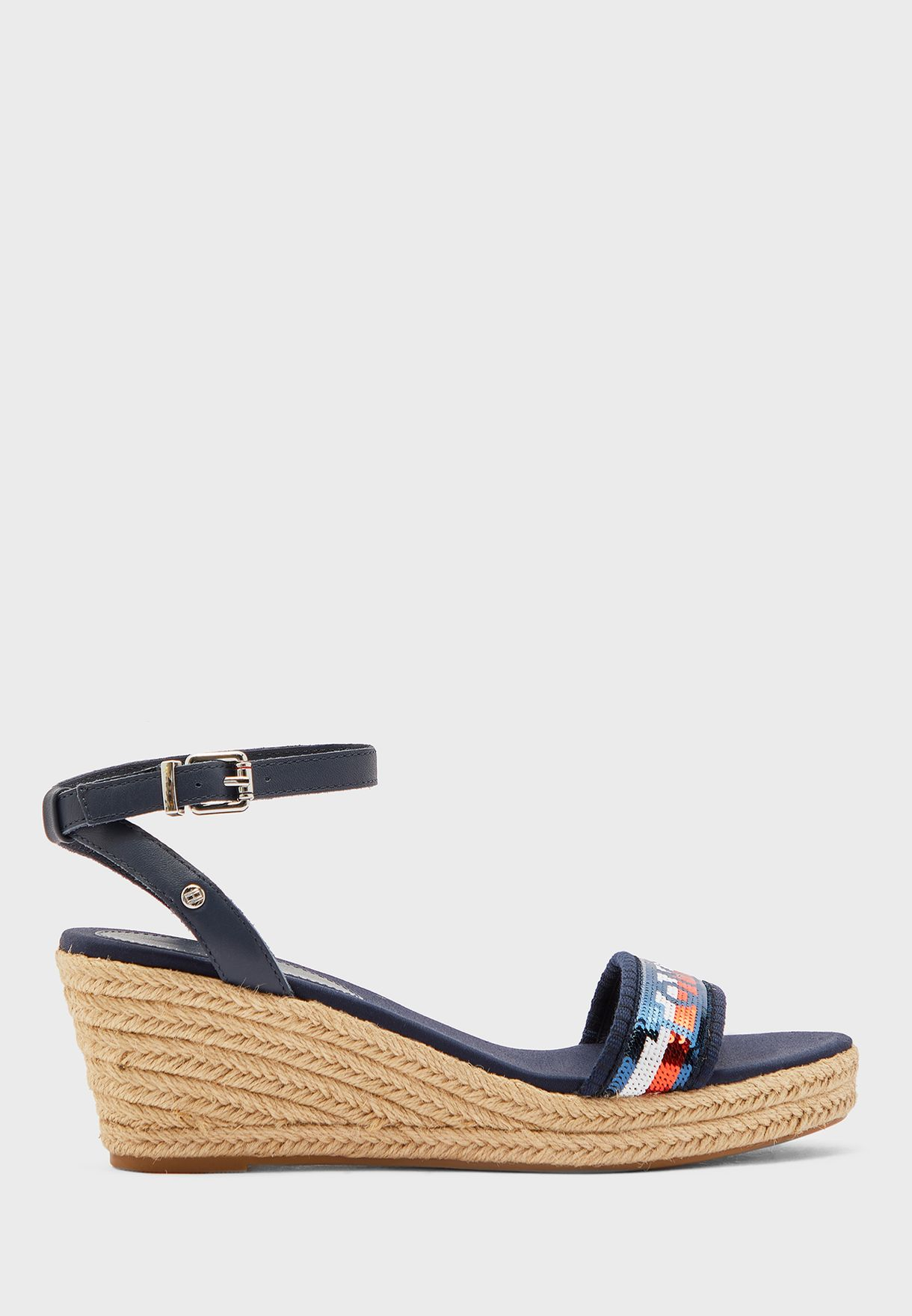 Tommy Sequins Mid Wedge Sandal - DB9
