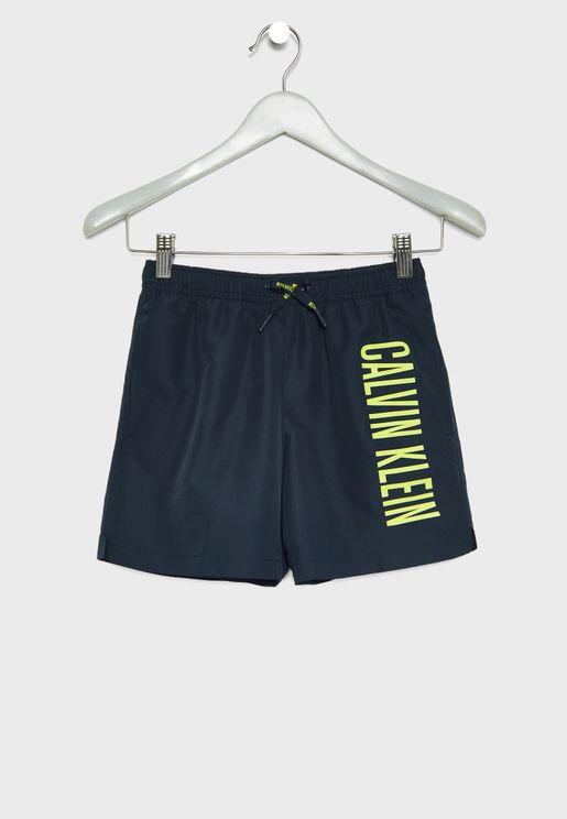 Teen Tie Waist Swim Shorts