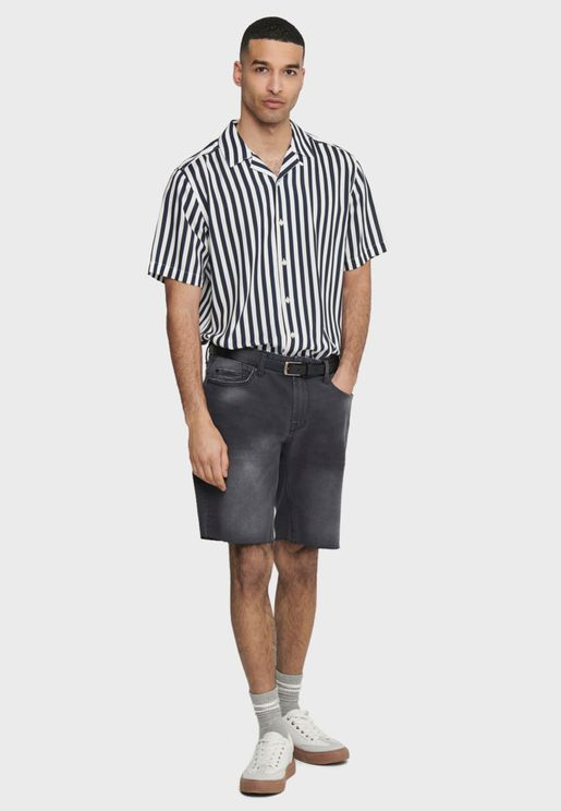 Wayne  Striped Viscose Shirt