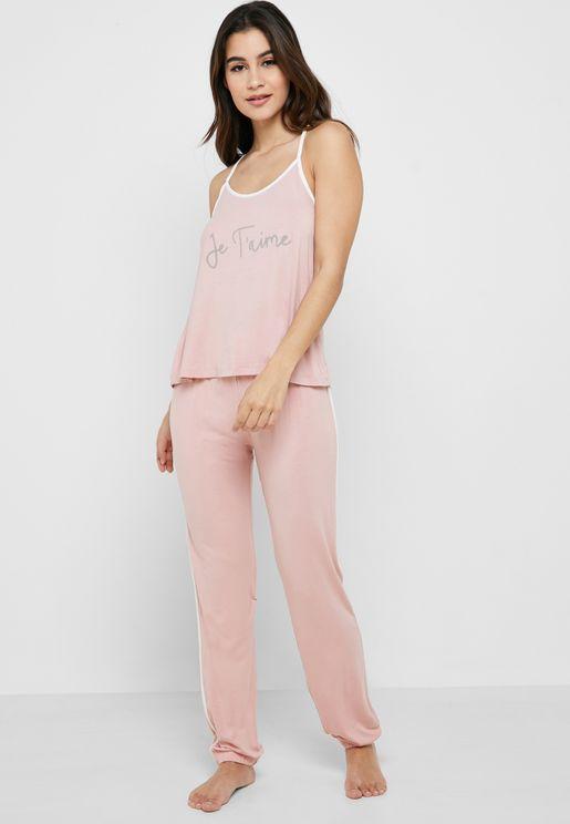 Je T'Aime Cami & Jogger Pyjama Set