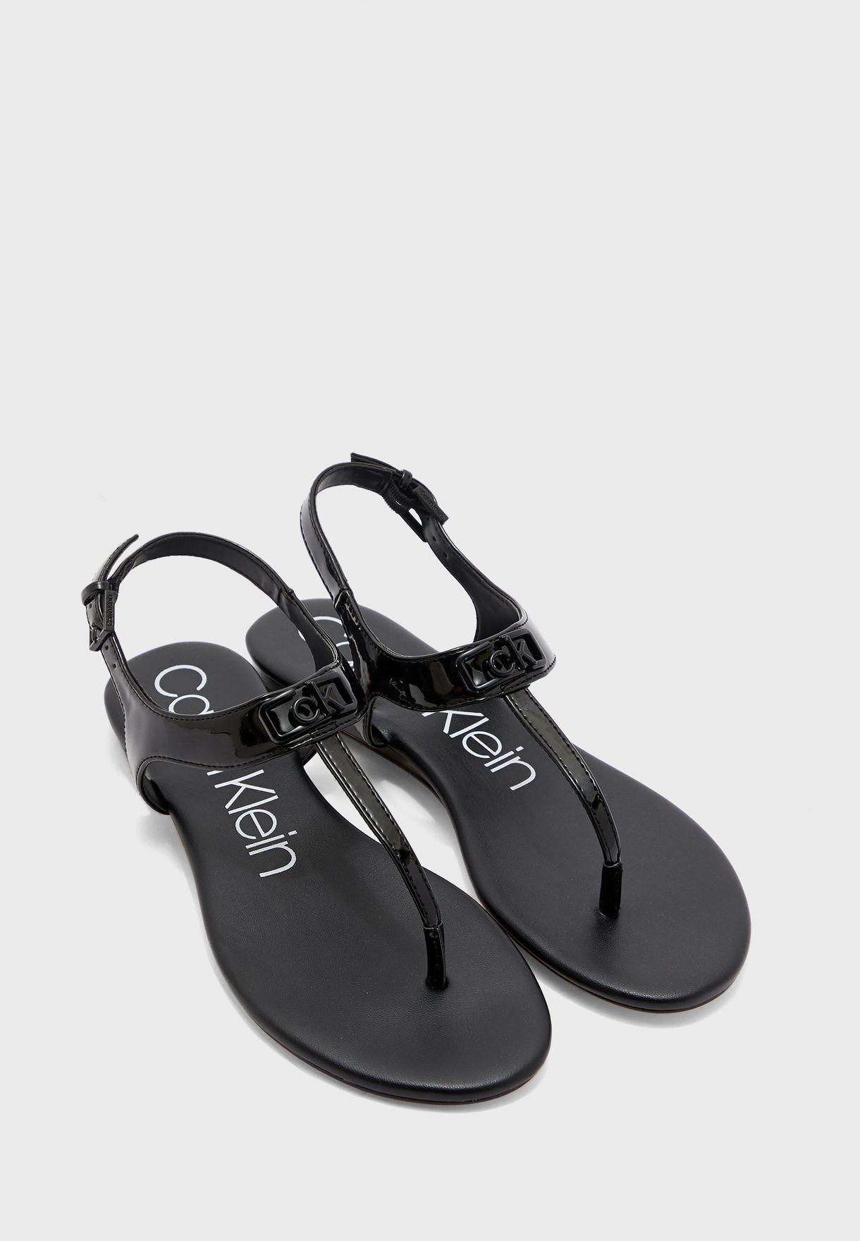 Calvin Klein black Shamary Flat Sandal