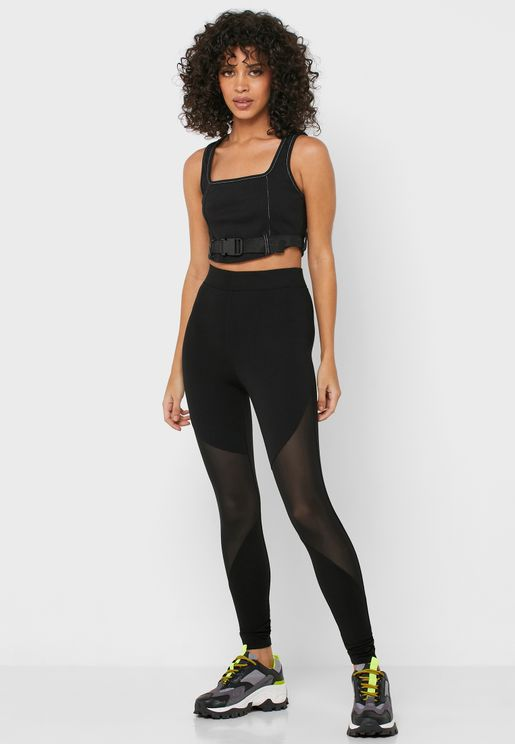 Mesh Detail Leggings