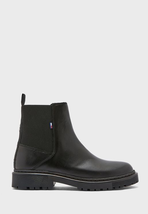 Essential Leather Ankle Boot