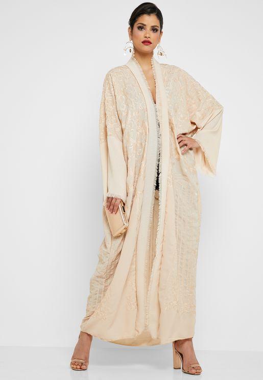 Embroidered Fringe Detail Abaya