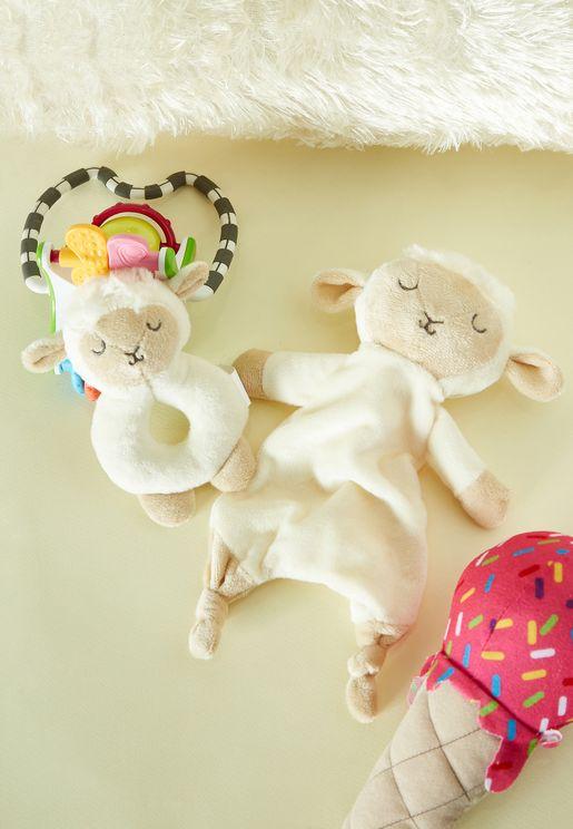Baa Baa Lamb Comforter And Rattle Gift Set