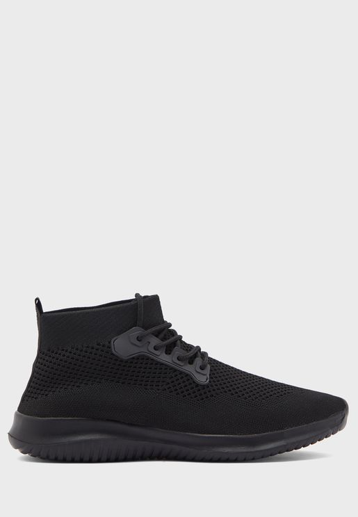 Comfort Knitted High Top Sneakers