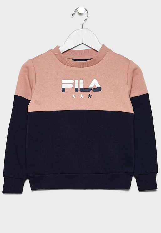Kids Nicky Colour Block Sweatshirt