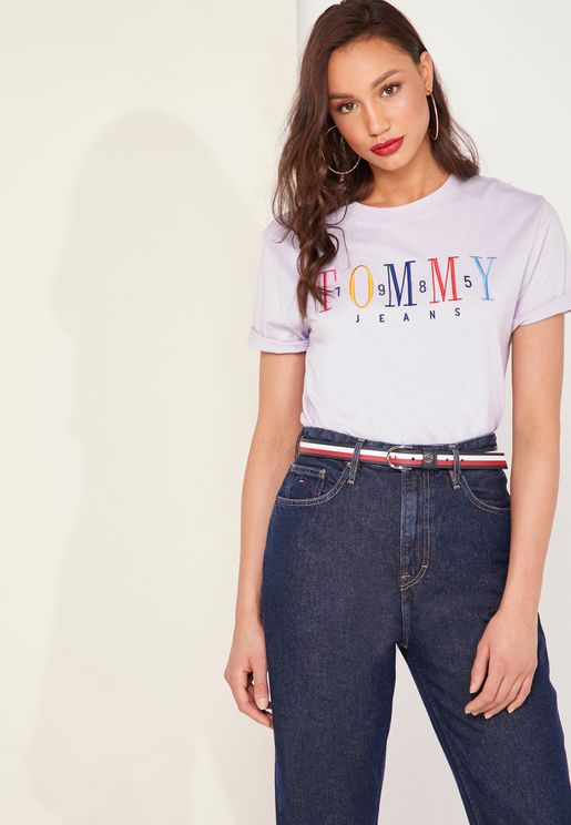 Embroidered Detail Logo T-Shirt