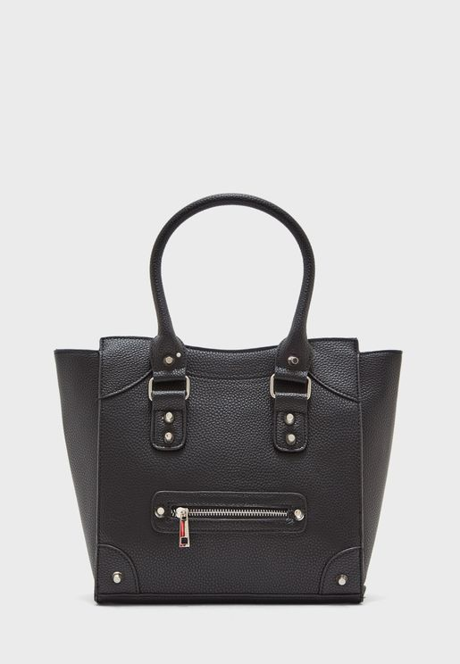Stud Detail Oversize Tote