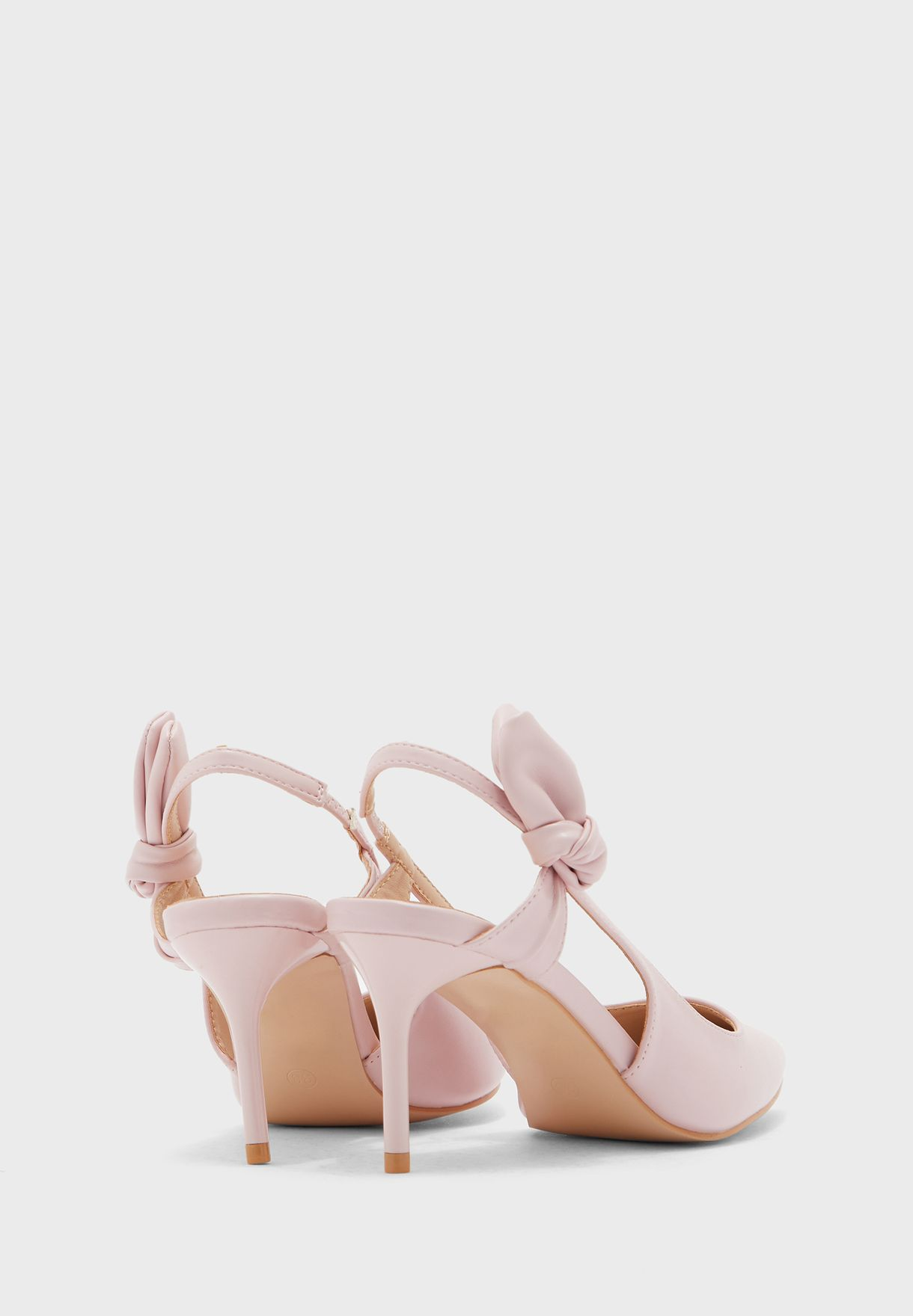 Knot Detail Slingback Pointed Pump
