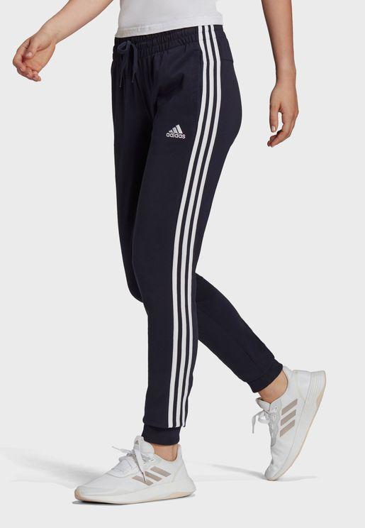 3 Stripe Logo Cuffed Sweatpants