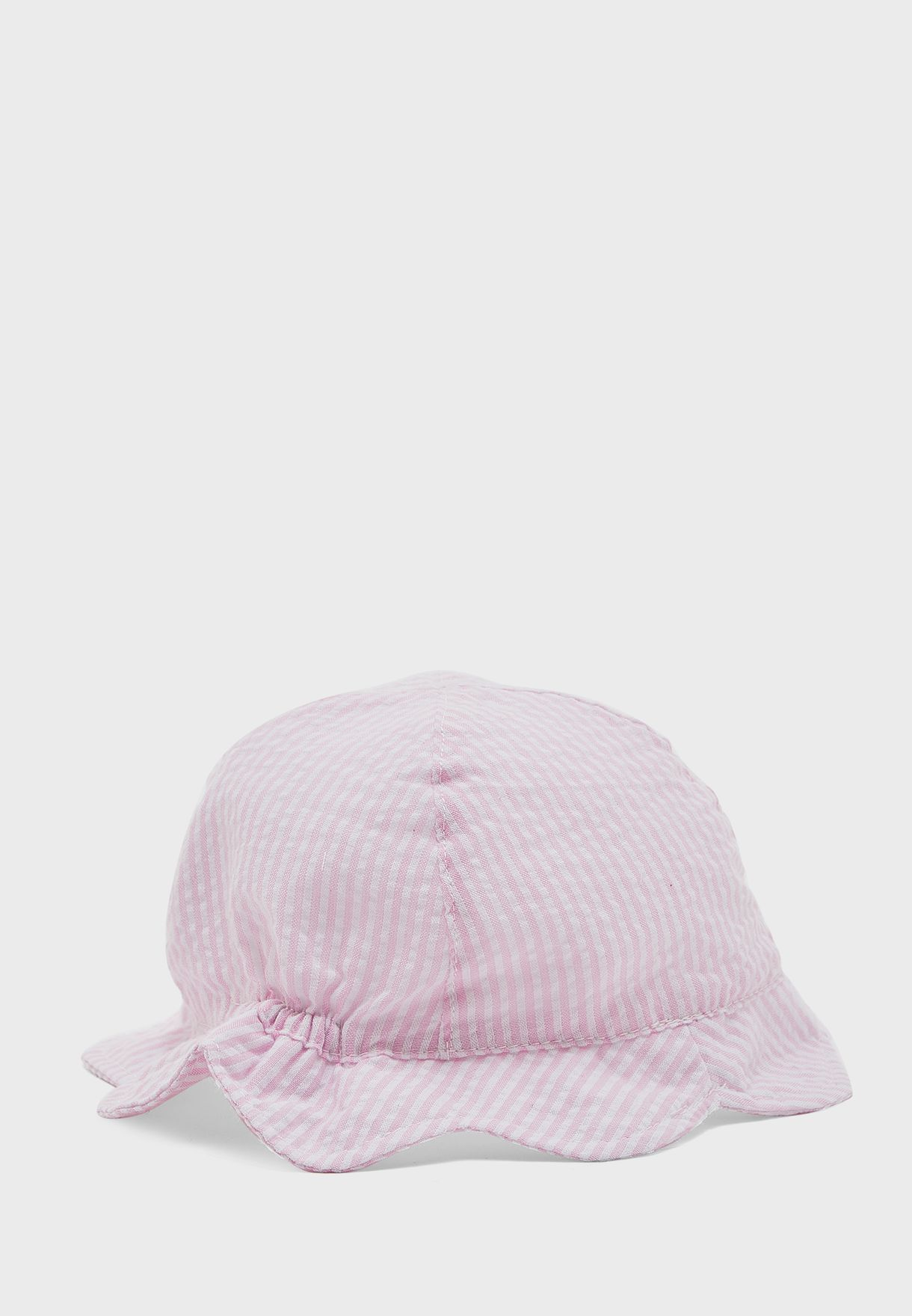 Kids Striped Bow Detail Hat