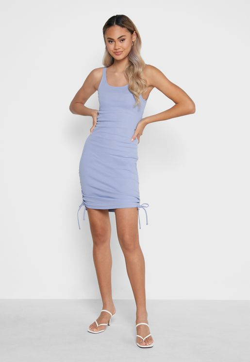 Side Tie Bodycon Dress