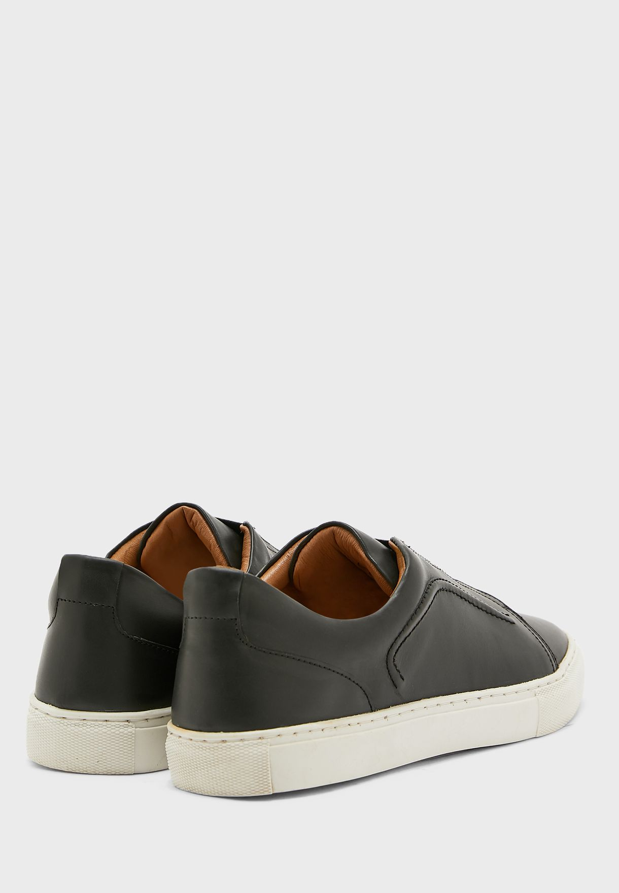 Genuine Leather Casual Slip Ons