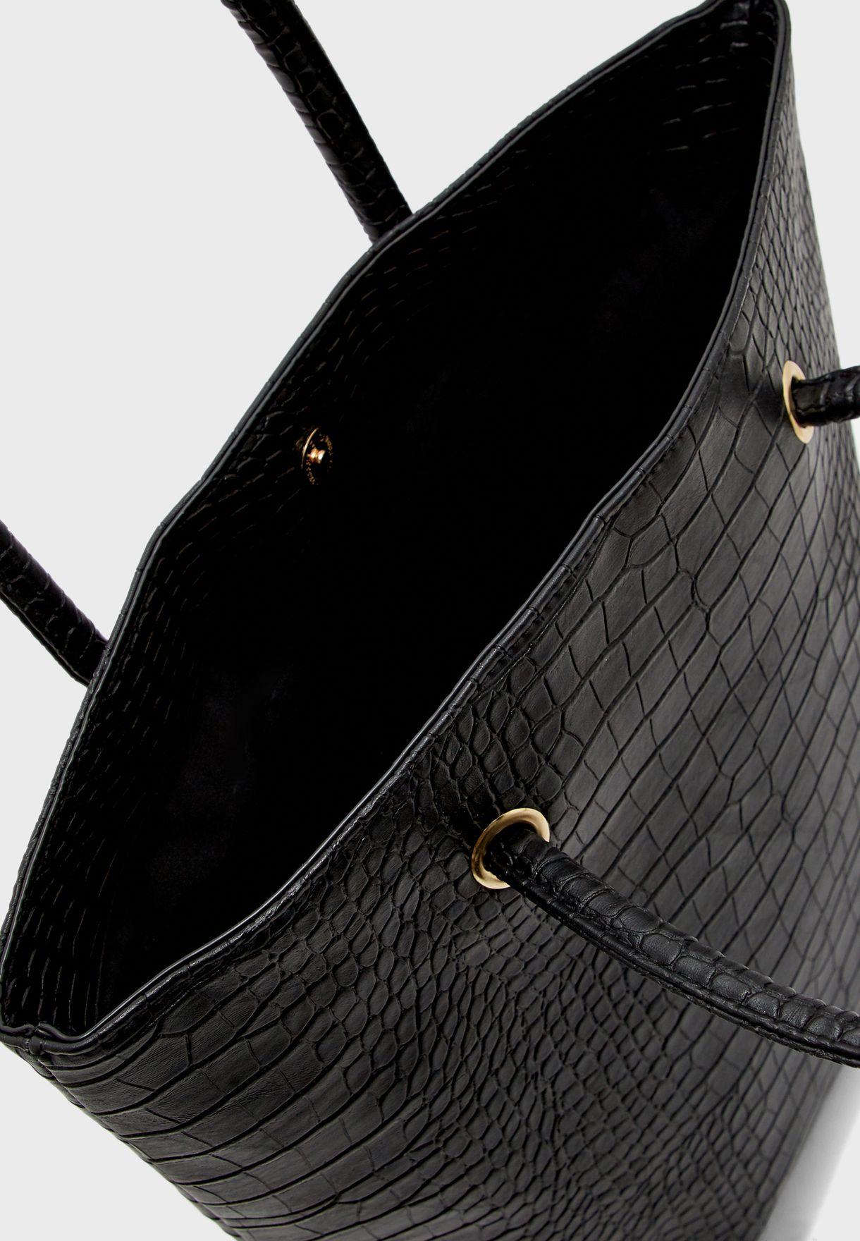 حقيبة تسوق بقفل مغناطيسي