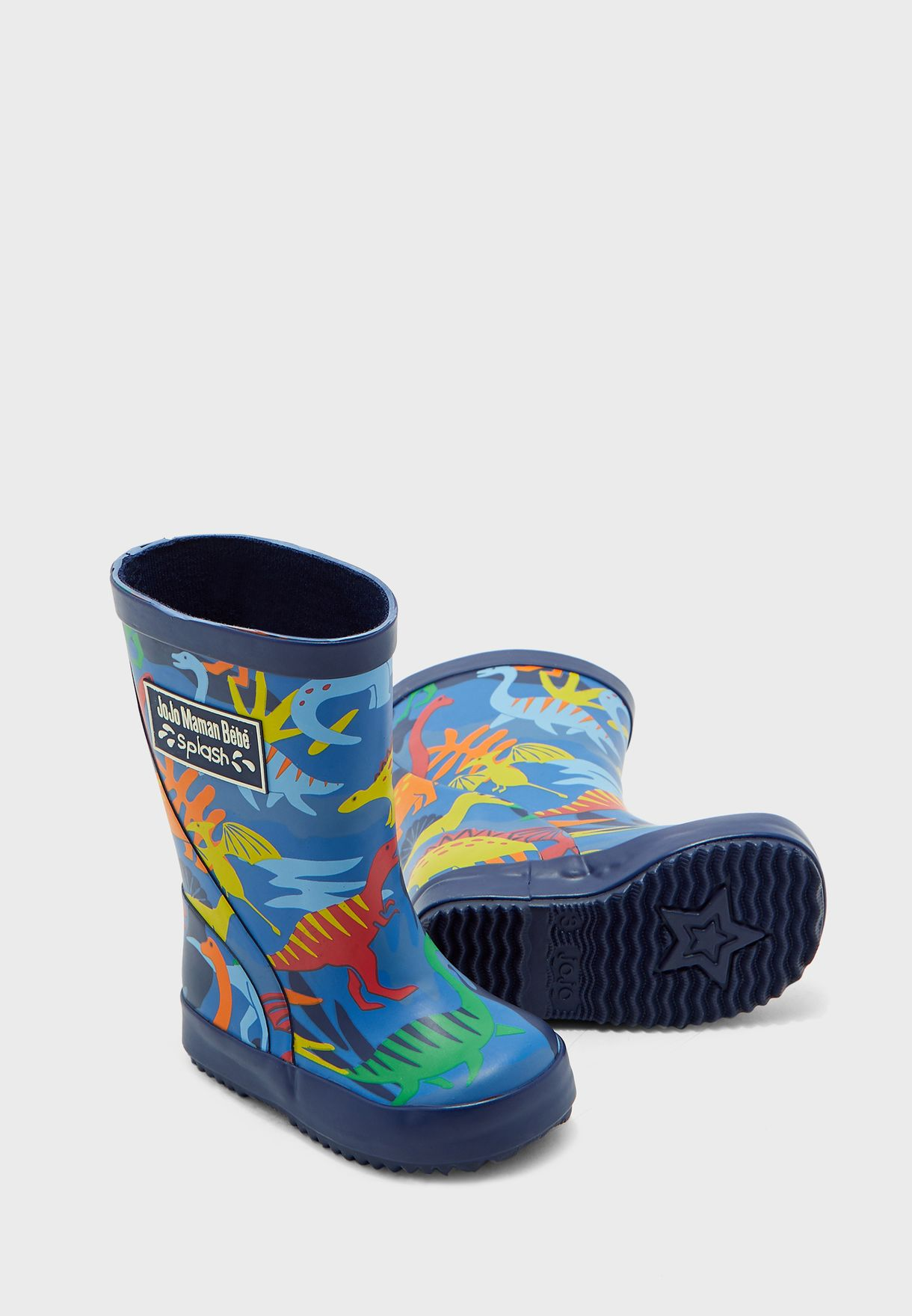 Kids Patterned Wellington Boots