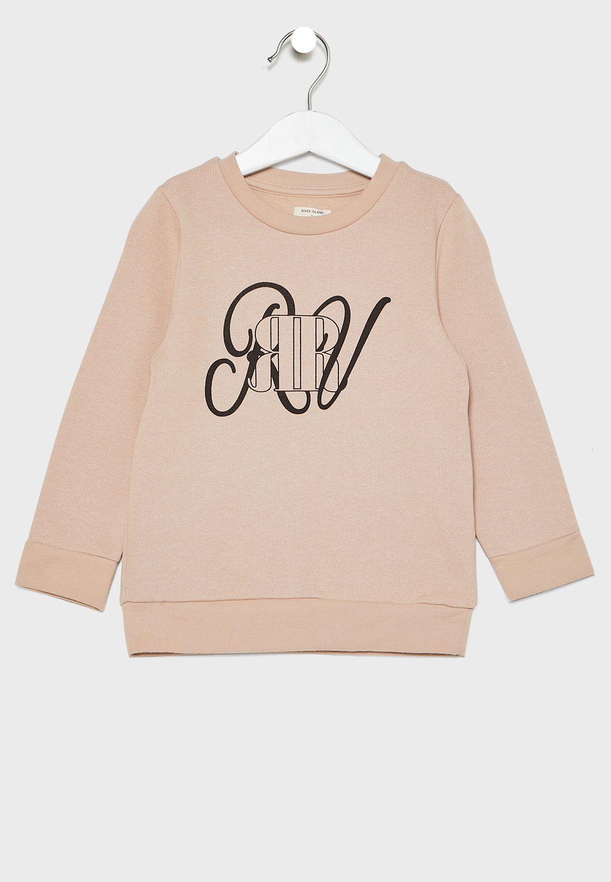 Infant Logo Sweatshirt + Shorts Set