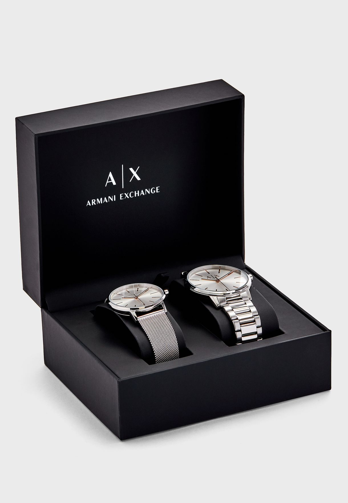AX7112 Cayde Analog Couple Watch Set