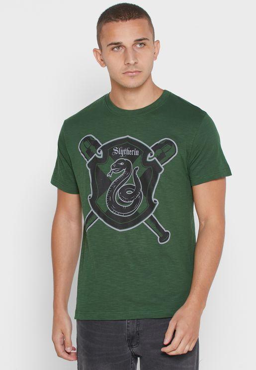 Harry Potter Slytherin Crew Neck T-Shirt
