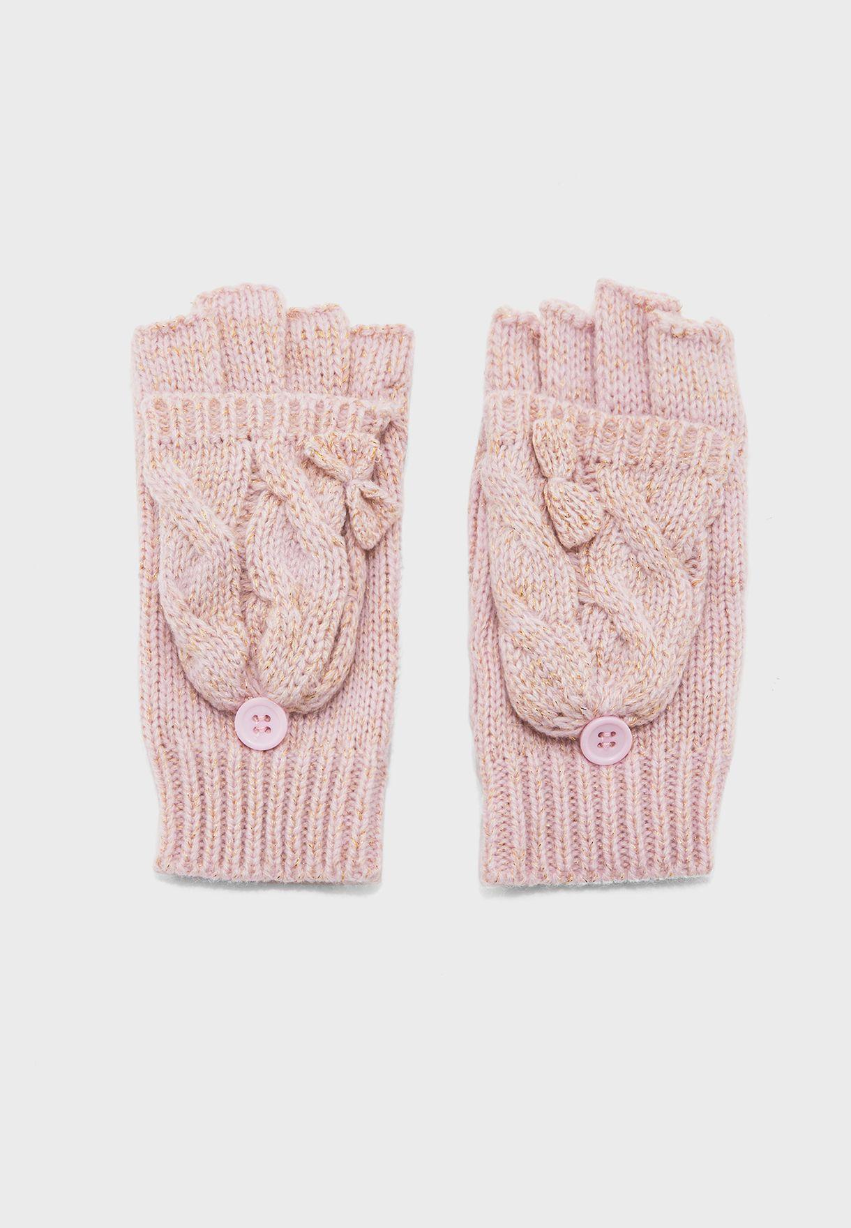 Kids Knitted Fingerless Gloves