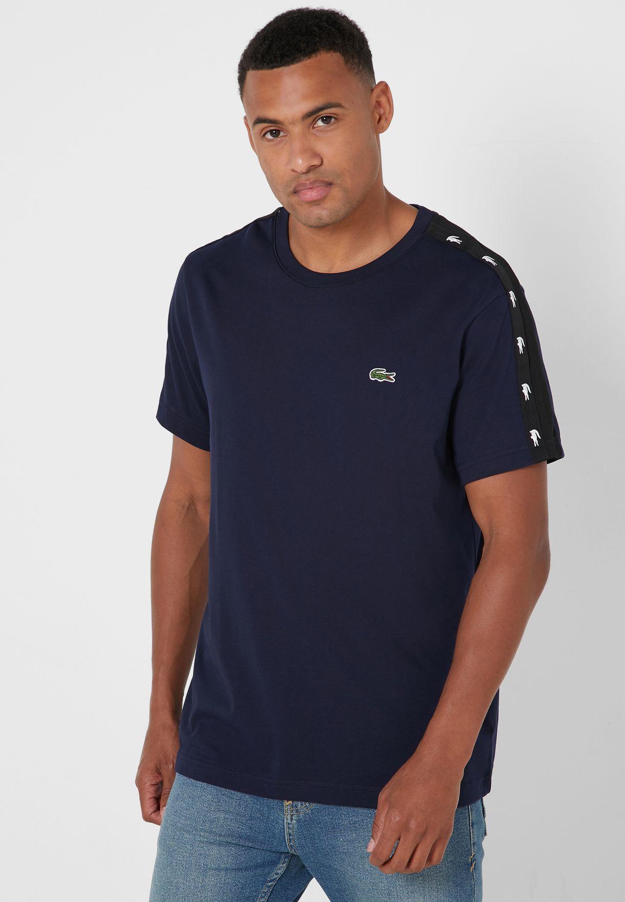 Logo Shoulder Tape Crew Neck T-Shirt