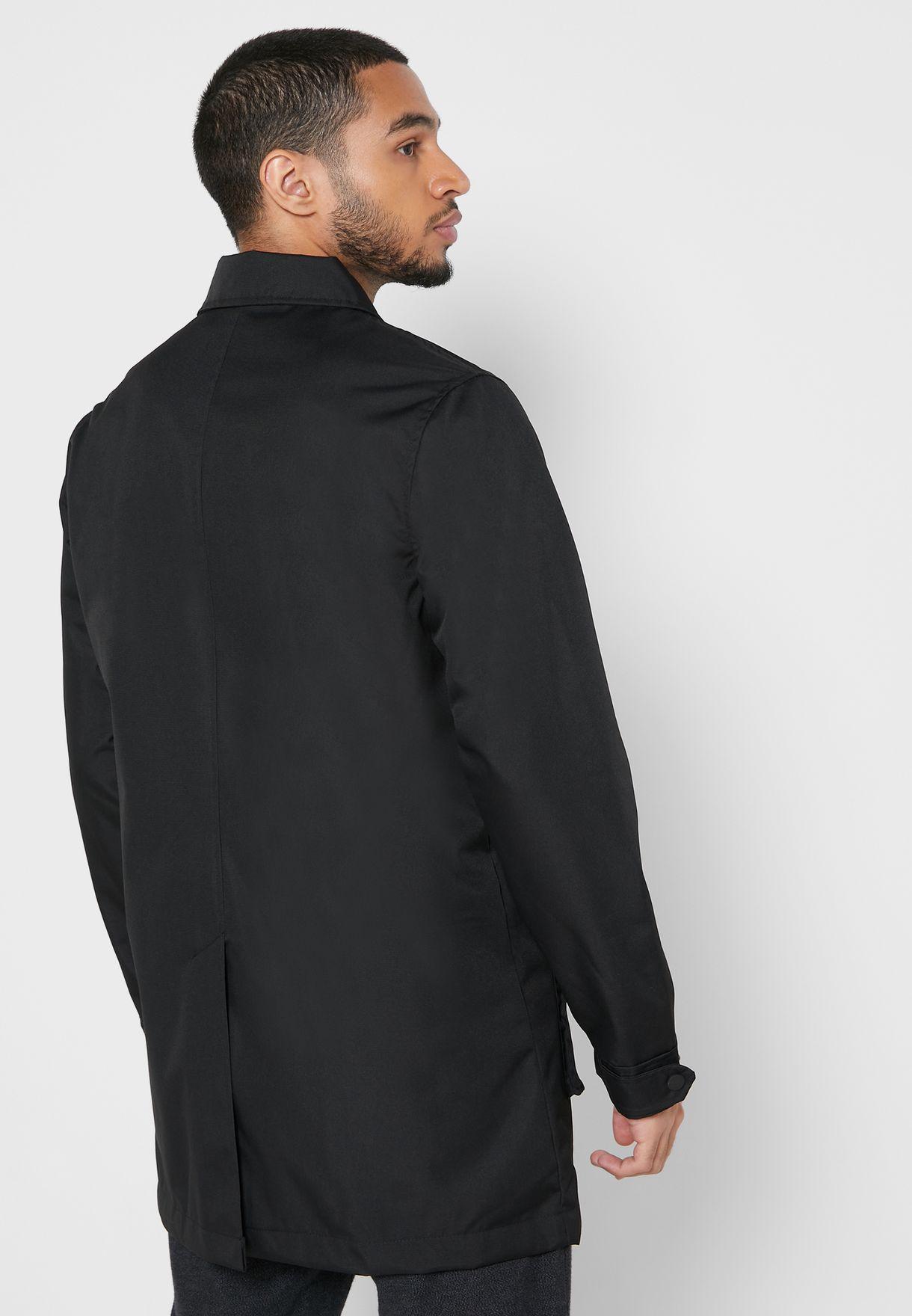 Zip Through Long Jacket
