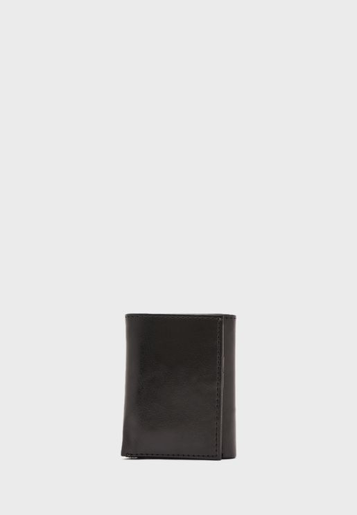 Trifold Leatherette Wallet with 11 Card Slots