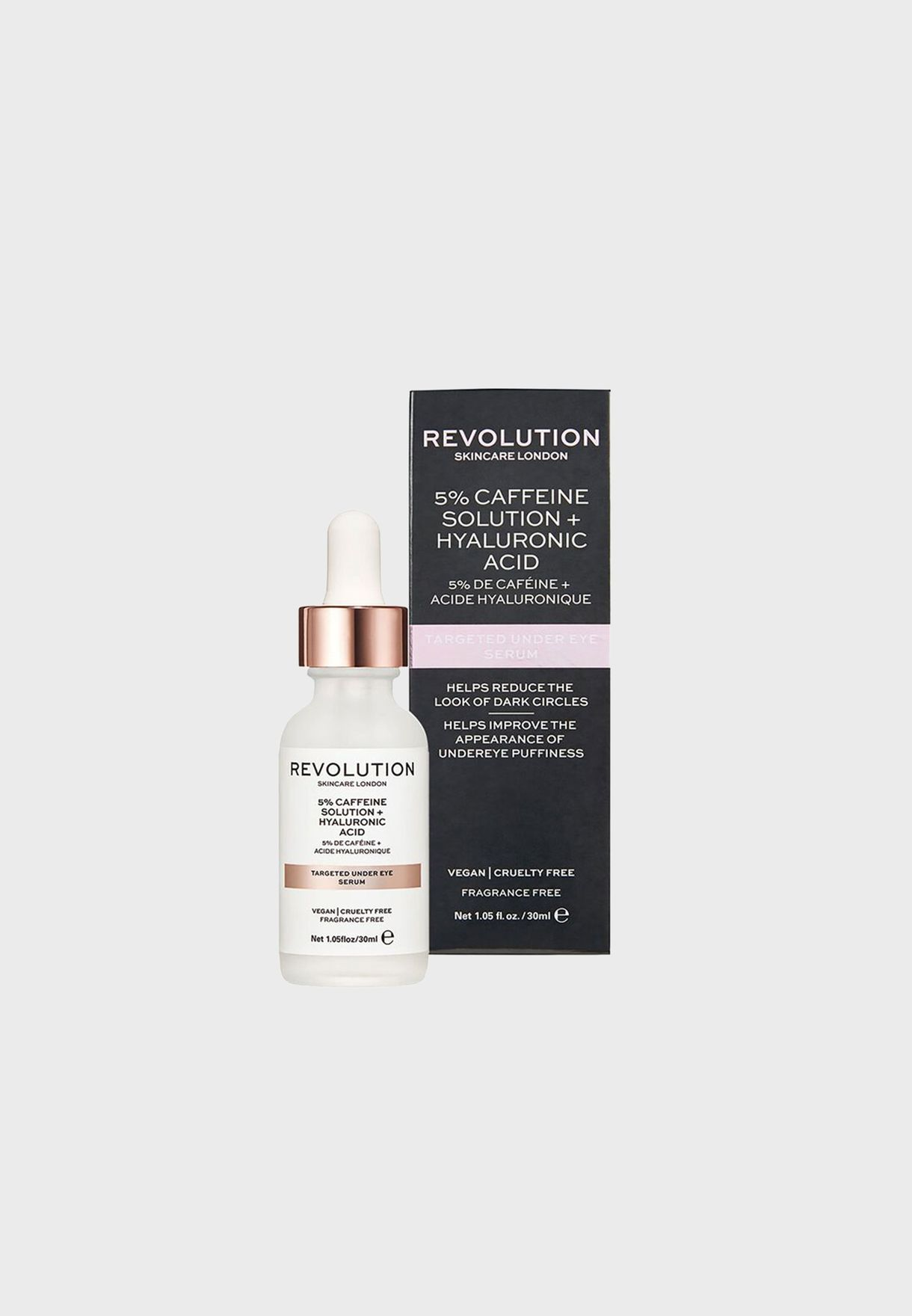 Revolution Skincare Targeted Under Eye Serum - 5% Caffeine Solution + Hyaluronic Acid