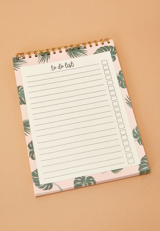 A4 Palm Leaf To Do List