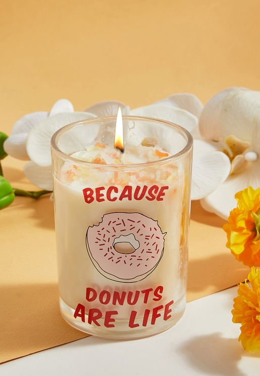 Donuts Are Life Candle