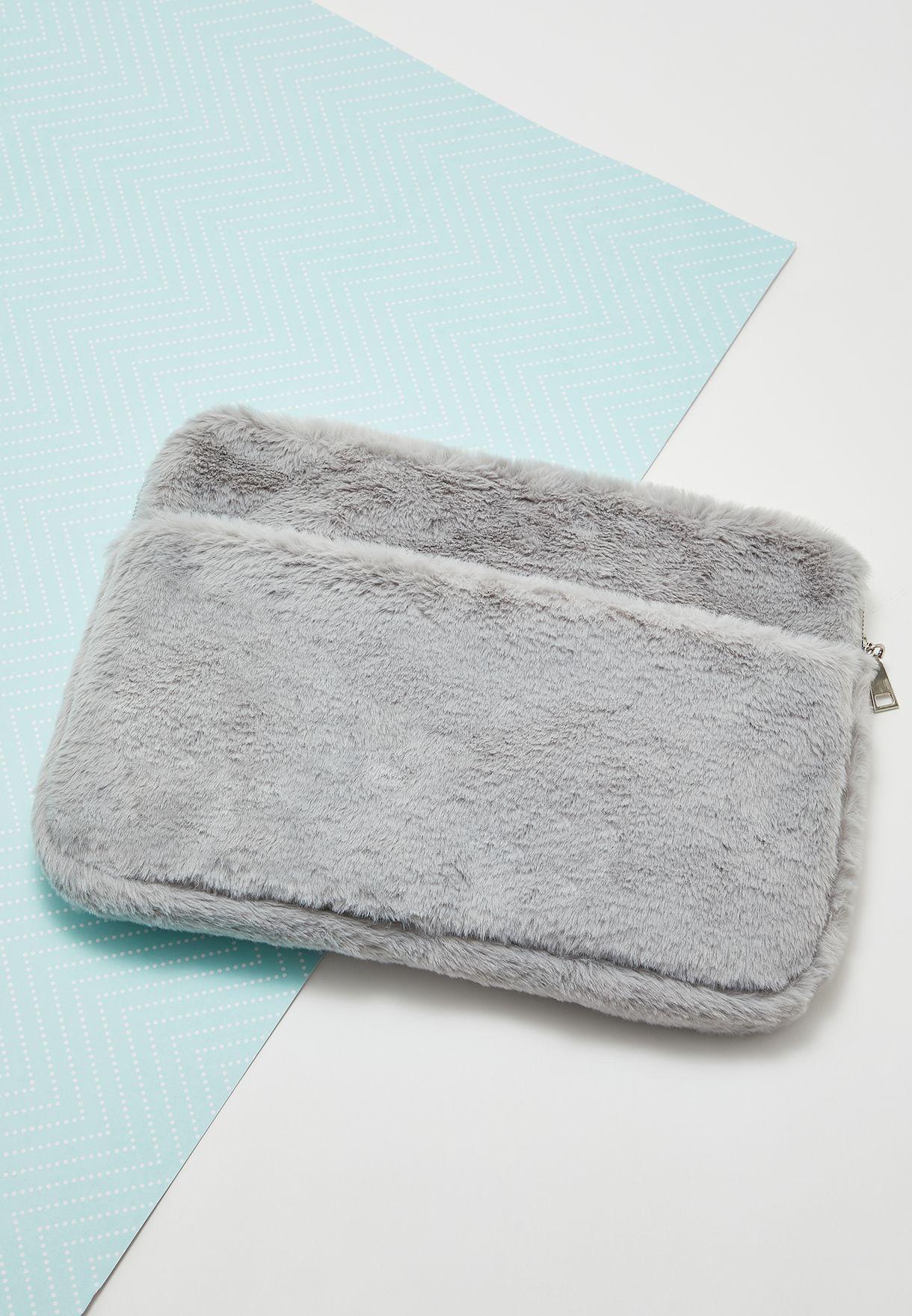 """15"""" Fur Detail Laptop Bag"""