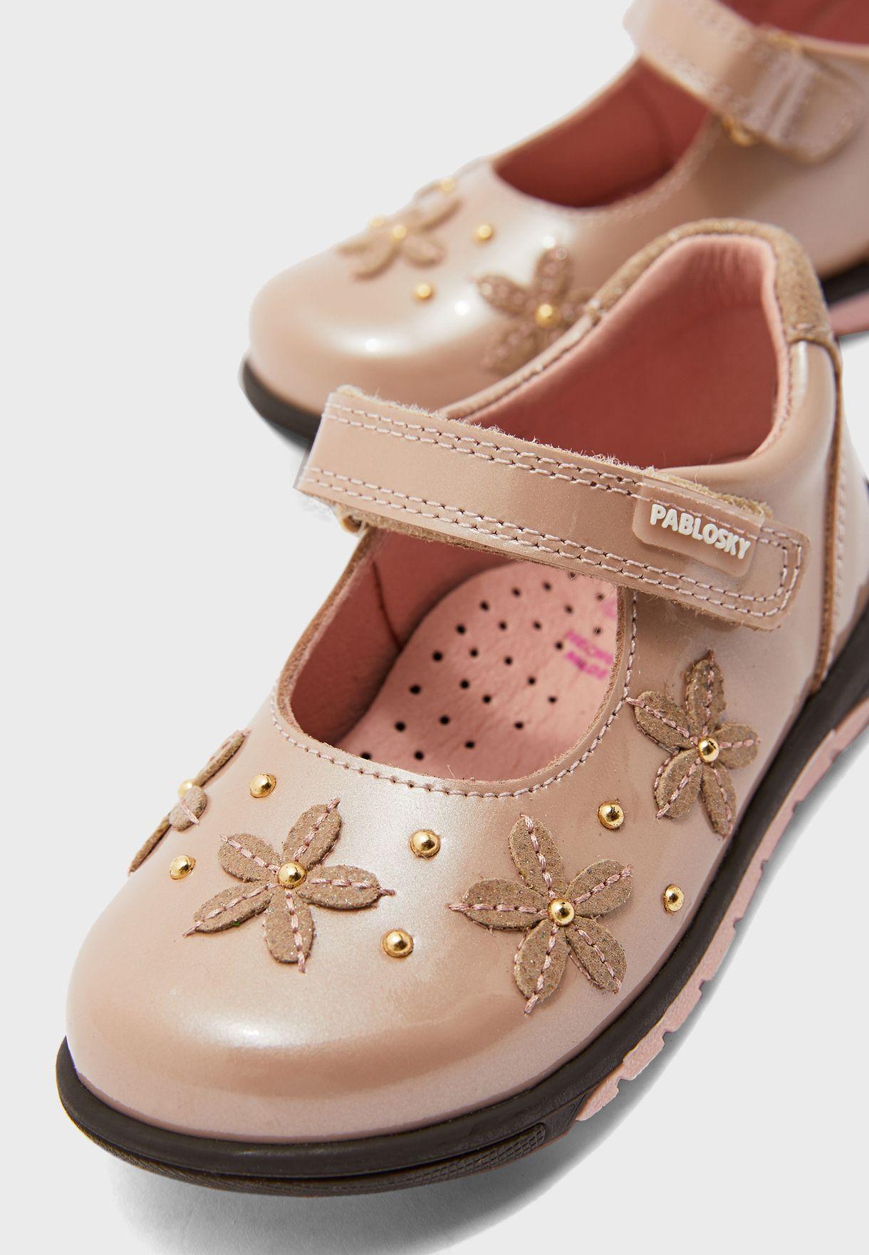 Infant Floral Embroidered Slip on