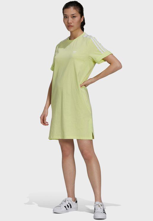 3 Stripe T-Shirt Dress