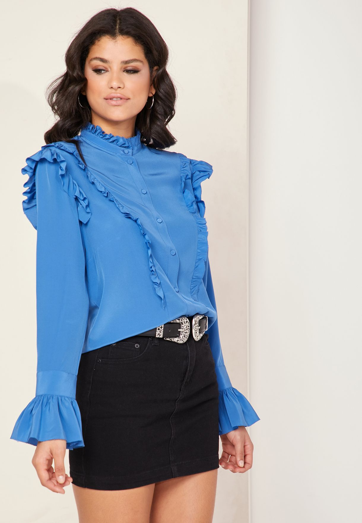 Tweet Ruffle Detail Shirt