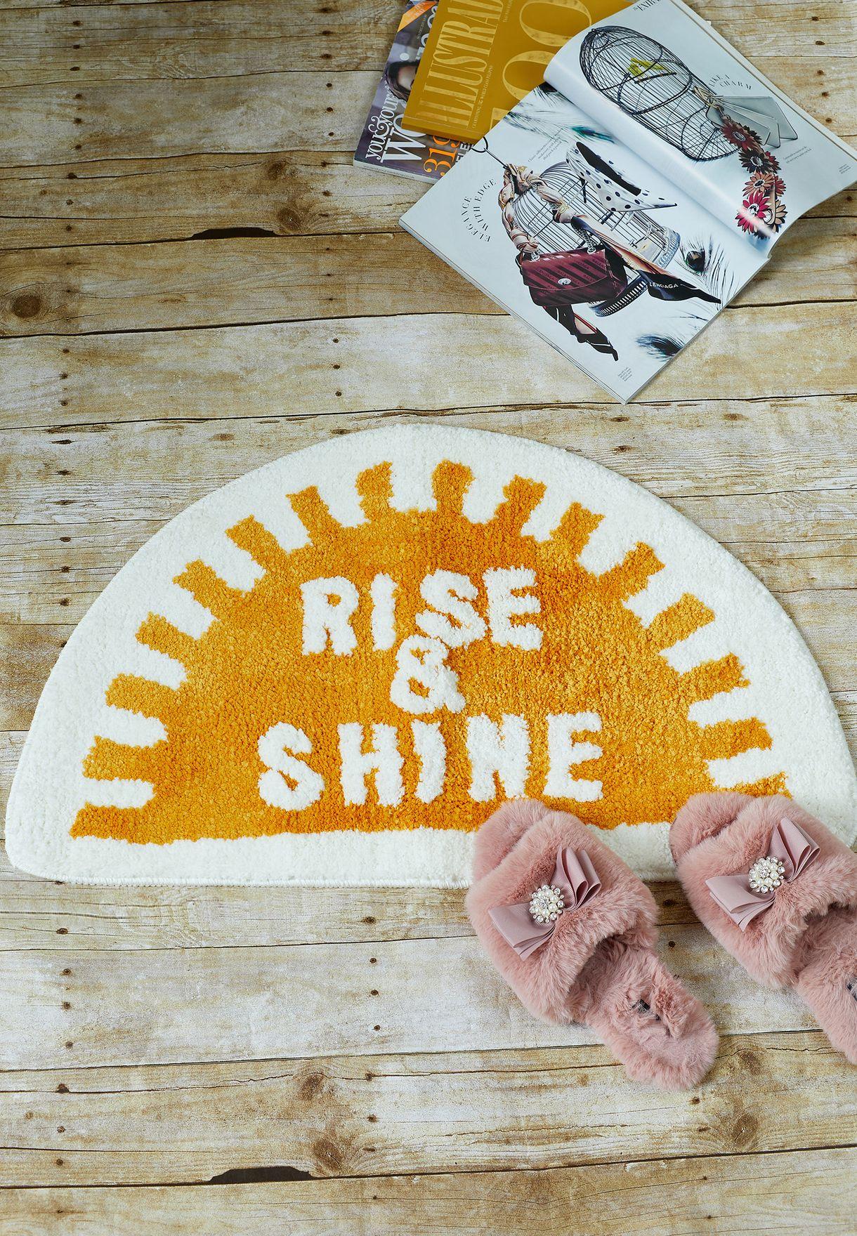 Buy Aurora Prints Rise Amp Shine Bath Mat For Women In Mena Worldwide Namshi 50