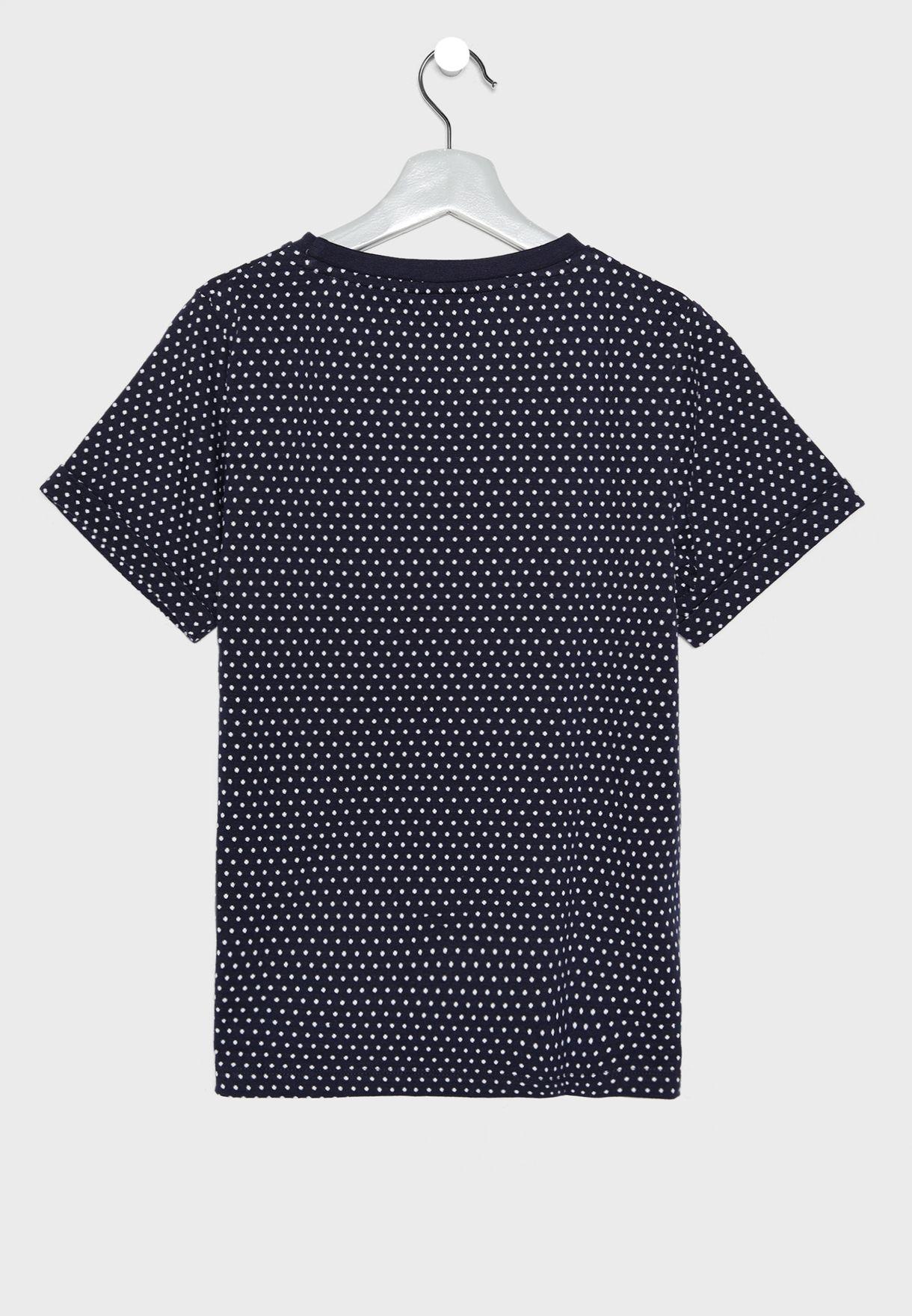 Teen Slogan Polka Dot T-Shirt