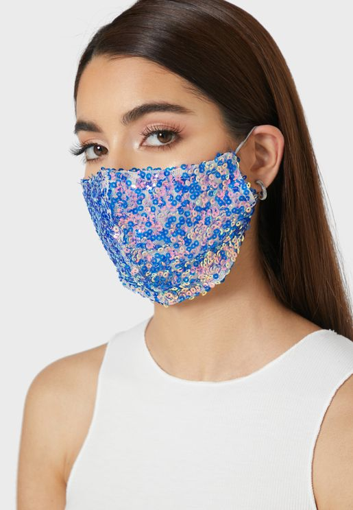 Color Sequins Mask
