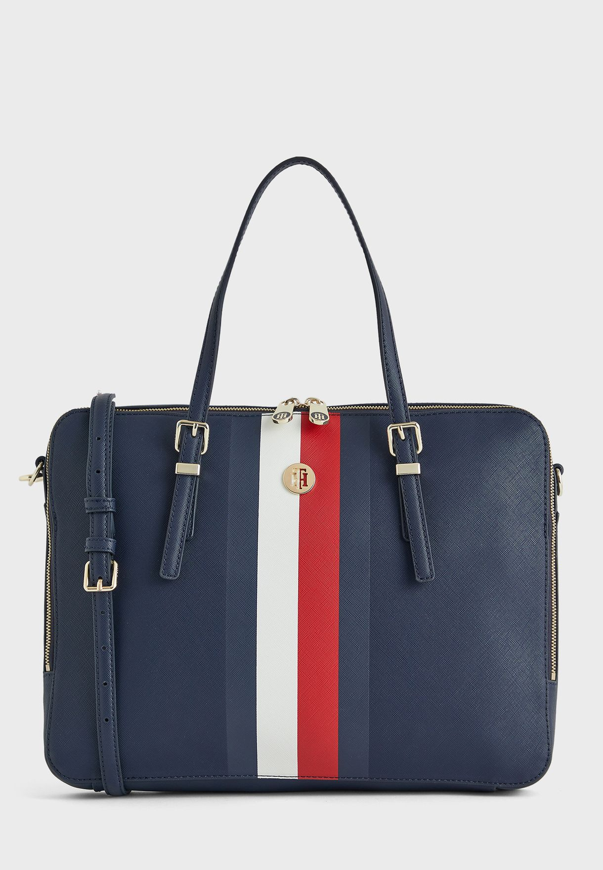 TOMMY HILFIGER Cool Tommy Tote Met Shopper Tasche Tommy Navy